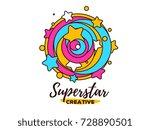 vector illustration of abstract ... | Shutterstock .eps vector #728890501
