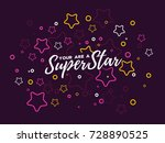 vector illustration with star... | Shutterstock .eps vector #728890525