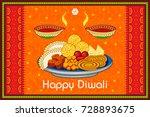 vector design of diwali... | Shutterstock .eps vector #728893675