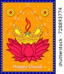 vector design of diwali... | Shutterstock .eps vector #728893774