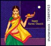 vector design of indian woman... | Shutterstock .eps vector #728893915