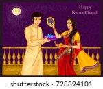 vector design of indian woman... | Shutterstock .eps vector #728894101