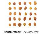 dried raisins on a white... | Shutterstock . vector #728898799