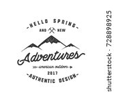 vintage adventure hand drawn... | Shutterstock . vector #728898925