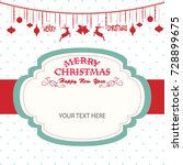 merry christmas and happy new... | Shutterstock .eps vector #728899675