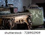 mysterious wooden box  symbol... | Shutterstock . vector #728902909