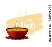 diwali festival celebration...   Shutterstock .eps vector #728906095