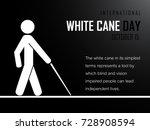 white cane day   Shutterstock .eps vector #728908594