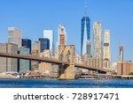 lower manhattan skyline as seen ... | Shutterstock . vector #728917471
