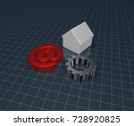 Gear Wheel  House Model And...