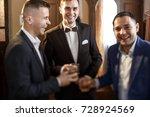 groom and his groomsmen friends ... | Shutterstock . vector #728924569