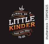 little kinder typography design | Shutterstock .eps vector #728928121