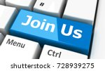 join us key on the computer... | Shutterstock . vector #728939275