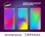 colorful holographic background.... | Shutterstock .eps vector #728944261