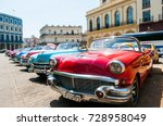 havana cuba classic cars | Shutterstock . vector #728958049