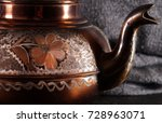 the vintage turkish teapot on... | Shutterstock . vector #728963071