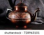 the vintage turkish teapot on... | Shutterstock . vector #728963101