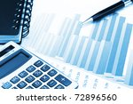 financial charts and graphs on... | Shutterstock . vector #72896560