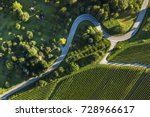 aerial shot of some road... | Shutterstock . vector #728966617