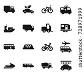 16 vector icon set   truck  eco ... | Shutterstock .eps vector #728971999