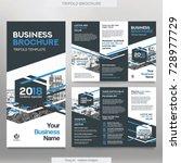 business brochure template in... | Shutterstock .eps vector #728977729