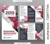 business brochure template in... | Shutterstock .eps vector #728977744