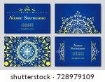 visiting card and business card ... | Shutterstock .eps vector #728979109