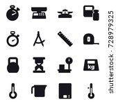 16 vector icon set   stopwatch