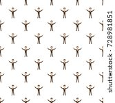 businessman with raised arms... | Shutterstock . vector #728981851