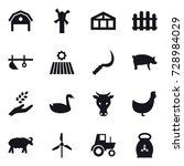 16 vector icon set   barn ... | Shutterstock .eps vector #728984029