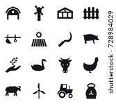 16 vector icon set   barn ... | Shutterstock .eps vector #728984029