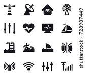 16 vector icon set   lighthouse ... | Shutterstock .eps vector #728987449