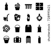 container icons set. set of 16... | Shutterstock .eps vector #728995621