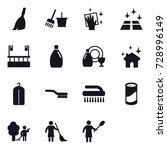 15 vector icon set   broom ... | Shutterstock .eps vector #728996149