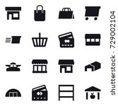 16 vector icon set   shop ... | Shutterstock .eps vector #729002104