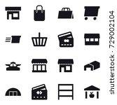 16 vector icon set   shop ... | Shutterstock .eps vector #729002104