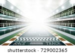 race track arena with... | Shutterstock .eps vector #729002365