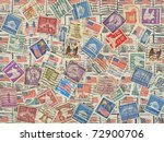 different postage stamps as... | Shutterstock . vector #72900706