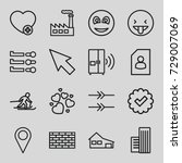 button icons set. set of 16... | Shutterstock .eps vector #729007069