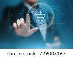e commerce add to cart online... | Shutterstock . vector #729008167