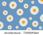 flowers of white daisy on a... | Shutterstock .eps vector #729009364