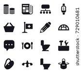 16 vector icon set   coin stack ...