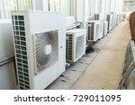 air compressor machine on... | Shutterstock . vector #729011095
