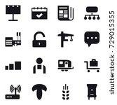 16 vector icon set   billboard  ...
