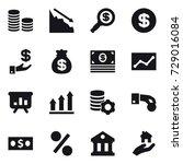 16 vector icon set   coin stack ...   Shutterstock .eps vector #729016084