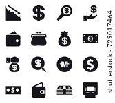16 vector icon set   crisis ... | Shutterstock .eps vector #729017464