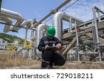 male worker inspection visual... | Shutterstock . vector #729018211