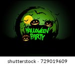 halloween party poster design ... | Shutterstock .eps vector #729019609