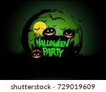 halloween party poster design ...   Shutterstock .eps vector #729019609