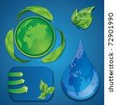eco design elements   Shutterstock .eps vector #72901990
